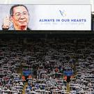 Leicester paid tribute to late chairman Vichai Srivaddhanaprabha (Nigel French/PA)