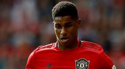 Marcus Rashford hopes Manchester United can build on their draw with Liverpool (Martin Rickett/PA)