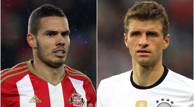 Jack Rodwell and Thomas Muller (Richard Sellers/Mike Egerton/PA)