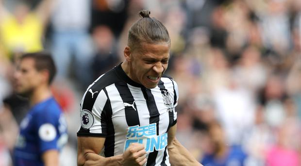 Newcastle striker Dwight Gayle is ready to fight for his place at St James' Park (Owen Humphreys/PA)