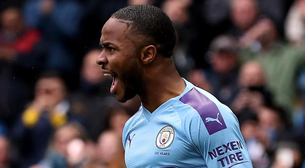 Raheem Sterling was on form again for Manchester City (Martin Rickett/PA)