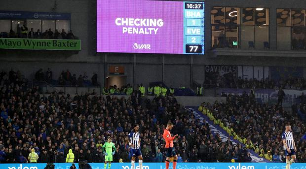 Connolly was awarded a penalty after a VAR check (Gareth Fuller/PA)