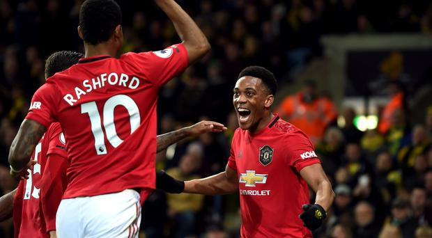 Ole Gunnar Solskjaer hailed the importance of Anthony Martial (right) (Joe Giddens/PA)