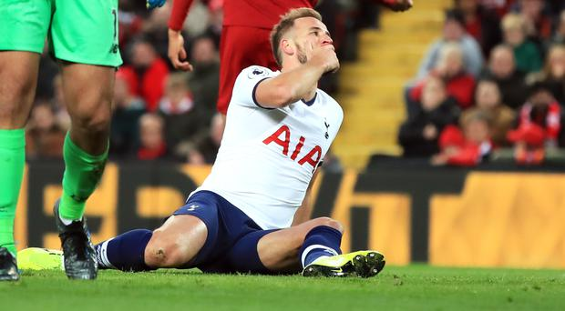 Harry Kane's side lost at Anfield despite taking an early lead (Peter Byrne/PA)