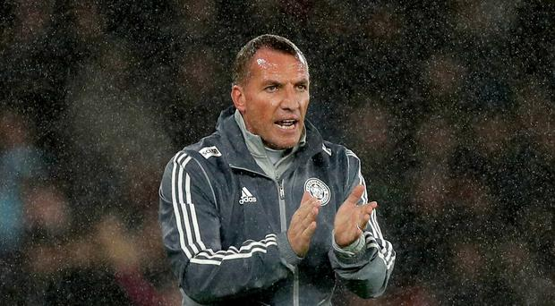Leicester manager Brendan Rodgers is preparing to face Crystal Palace on Sunday (Andrew Matthews/PA)