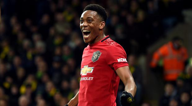 Anthony Martial is back in goalscoring form for Manchester United (Joe Giddens/PA)