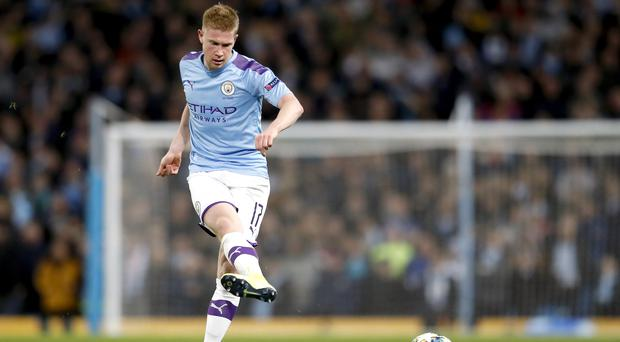 Kevin De Bruyne has nine assists in the Premier League this season (Martin Rickett/PA)