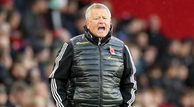 Chris Wilder is not getting carried away (Danny Lawson/PA)