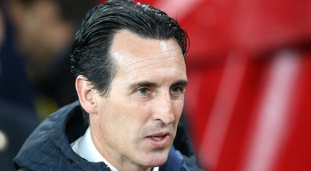 Unai Emery's men were held at home by Wolves (Nigel French/PA)