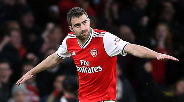 Sokratis Papastathopoulos feels it is up to everyone within the team to lead on the pitch (Nigel French/PA)