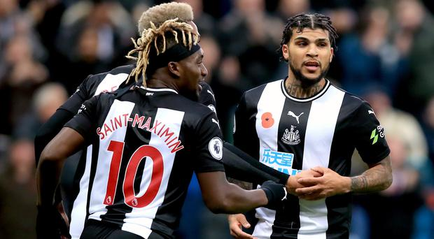 Newcastle's DeAndre Yedlin (right) celebrates scoring the equaliser against Bournemouth (Owen Humphreys/PA)
