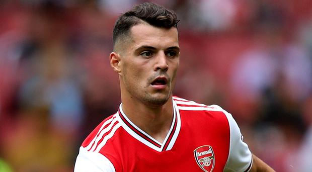 Granit Xhaka has not played for Arsenal since an outburst at supporters last month. (Nick Potts/PA)