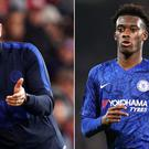 Frank Lampard, left, offered encouragement to Callum Hudson-Odoi (John Walton/PA)