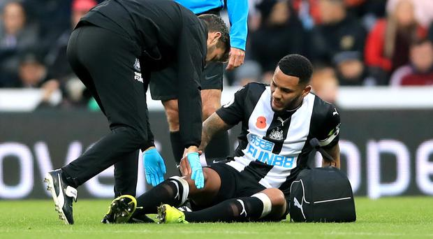 Jamaal Lascelles received treatment for the problem on Saturday (Owen Humphreys/PA)