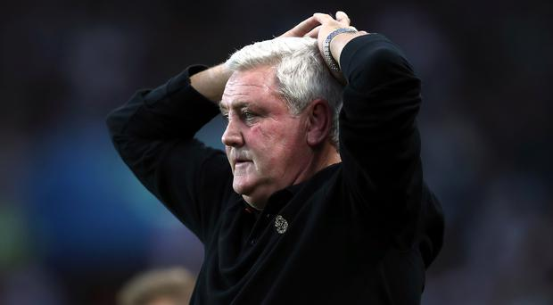Steve Bruce's reign at Aston Villa ended in ignominious fashion (David Davies/PA)