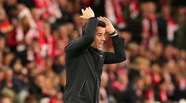 Marco Silva believes he is still the right person to turn around Everton's fortunes (Mark Kerton/PA)