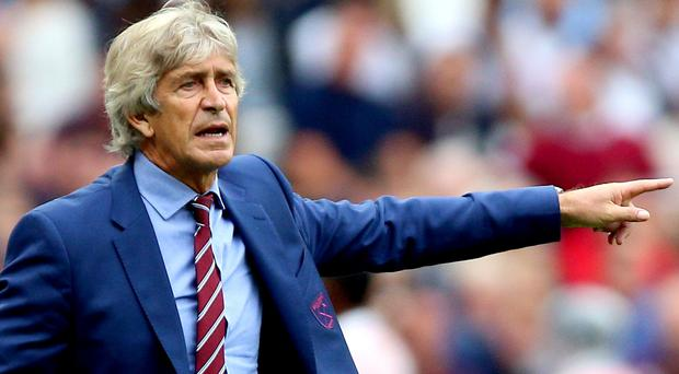 Manuel Pellegrini is feeling the heat at West Ham (Nigel French/PA)