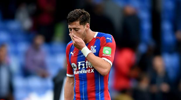 Crystal Palace's Joel Ward is unlikely to play again this year after suffering a knee injury against Liverpool (Daniel Hambury/PA)