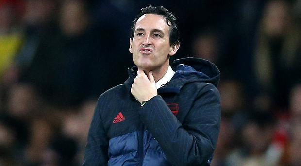 Unai Emery was unable to take Arsenal back into the Champions League after replacing Arsene Wenger in the dugout. (Nigel French/PA)