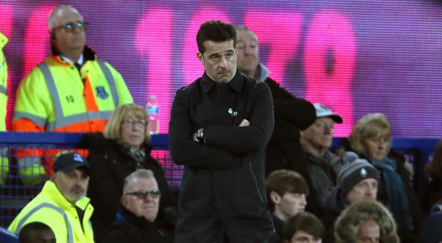 Marco Silva gave a defiant message when asked about his future (Richard Sellers/PA)