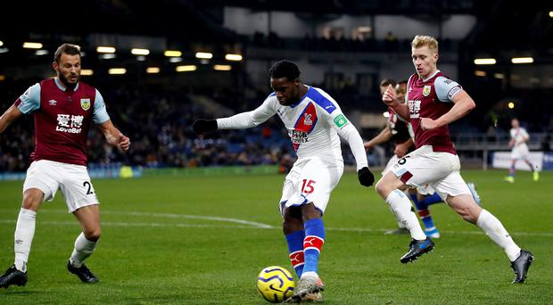Crystal Palace's Jeffrey Schlupp made a big impact off the bench in the 2-0 win at Burnley (Martin Rickett/PA)