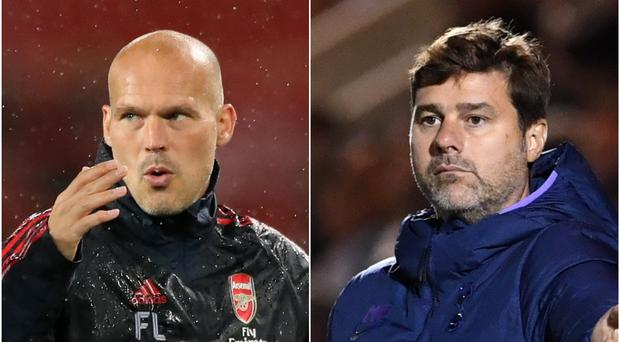 Freddie Ljungberg and Mauricio Pochettino are both being linked with the Arsenal post (Nick Potts/Joe Giddens/PA)