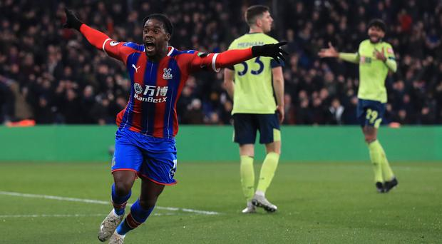 Crystal Palace's Jeffrey Schlupp scored his second goal of the season to earn a 1-0 win over Bournemouth (Adam Davy/PA)