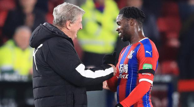Jeffrey Schlupp (right) has scored off the bench in Crystal Palace's last two games (Adam Davy/PA)