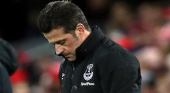 Marco Silva has been sacked by Everton after a run of eight defeats in 11 Premier League games (Richard Sellers/PA)