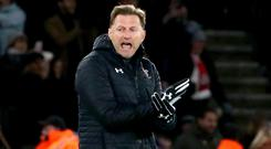 Southampton manager Ralph Hasenhuttl has seen his side climb out of the relegation zone with back-to-back wins (Mark Kerton/PA)
