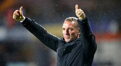 Brendan Rodgers has signed a new deal with Leicester through to the end of 2025 (Nick Potts/PA)