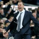 Duncan Ferguson celebrates Everton's third goal (Nigel French/PA)