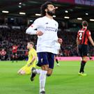 Mohamed Salah scored Liverpool's third (Adam Davy/PA)