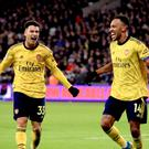 Arsenal ended a run of nine games without a win by triumphing 3-1 at West Ham (Adam Davy/PA)