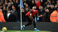 Fred Fred was hit by a missile as he went to take a second-half corner in the 2-1 victory at the Etihad Stadium (Mike Egerton/PA)