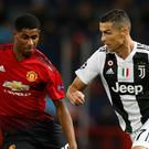 Marcus Rashford (left) has been likened to Cristiano Ronaldo (right) by manager Ole Gunnar Solskjaer (Martin Rickett/PA)