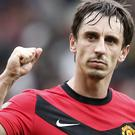 Gary Neville had a glittering career at United (Martin Rickett/PA)