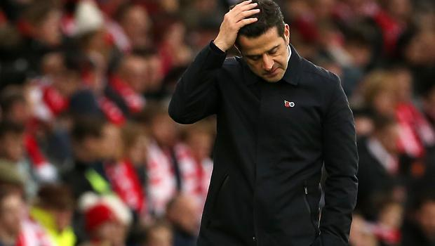 Everton manager Marco Silva was due to take training on Tuesday (Mark Kerton/PA Images).