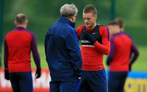 Hodgson worked with Vardy in the England set-up (John Walton/PA)