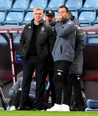 John Terry, right, has been working as number two to Dean Smith, left, at Aston Villa (Laurence Griffiths/PA)