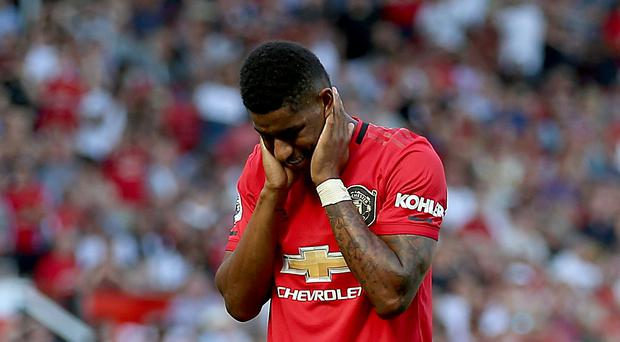Marcus Rashford was racially abused on social media after missing a penalty against Crystal Palace (PA)