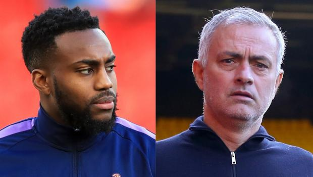 Danny Rose and Jose Mourinho (Peter Byrne/Nigel French/PA)