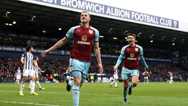 West Brom were beaten at home by Burnley