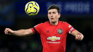 Harry Maguire is not content merely to finish in the Premier League top-four (Mike Egerton/PA)