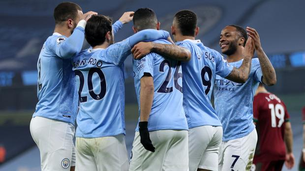 Manchester City won 21 games in a row (Clive Brunskill/PA)