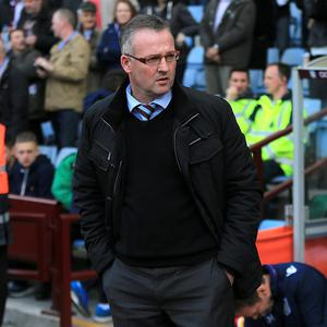 Aston Villa manager Paul Lambert, pictured, remains unsure of owner Randy Lerner's plans for the club