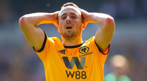 Diogo Jota twice hit the woodwork for Wolves (Nick Potts/PA)