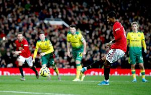 Manchester United's Marcus Rashford was the Premier League's most deadly penalty-taker (Martin Rickett/PA)