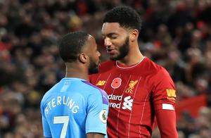 "Manchester City forward Raheem Sterling and Liverpool defender Joe Gomez clash at Anfield. Sterling admitted ""emotions got the better"" of him following the altercation with England team-mate Gomez during City's 3-1 defeat. The incident cost Sterling a place in Gareth Southgate's national team squad for a Euro 2020 qualifier against Montenegro (Peter Byrne/PA)"