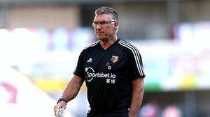 Watford head coach Nigel Pearson is aiming for back-to-back Premier League wins (Micheal Steele/NMC Pool)